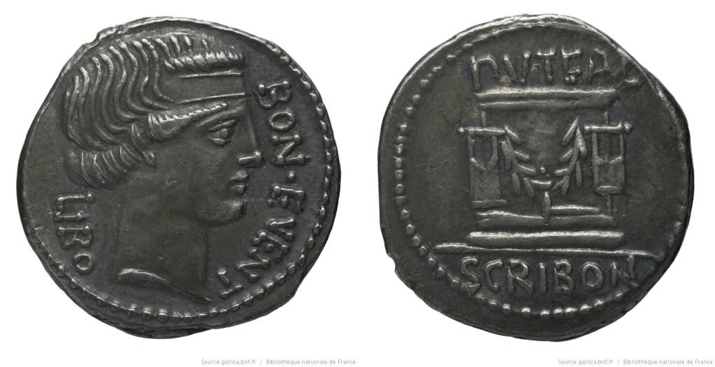 Read more about the article 1376SC – Denier Scribonia – Lucius Scribonius Libo