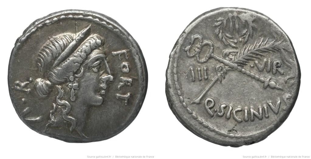 1420SI – Denier Sicinia – Quintus Sicinius