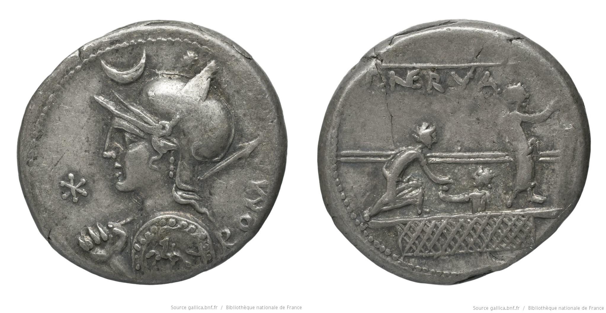 1098LI – Denier Licinia – Publius Licinius Nerva