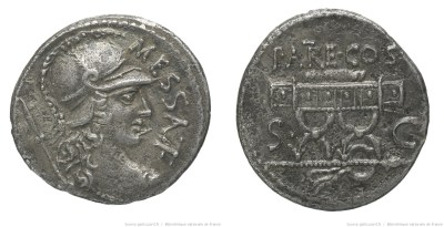 1414VA – Denier Valeria – Marcus Valerius Messala