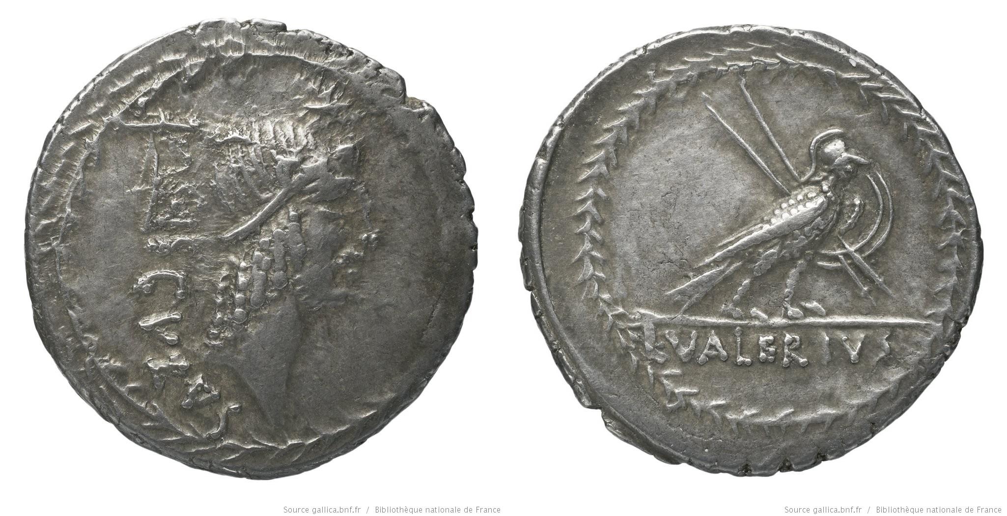 1508VA – Denier Valeria – Lucius Valerius Acisculus