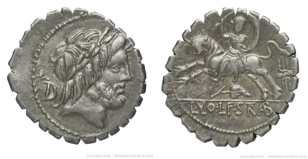 Read more about the article 1308VO – Denier Serratus Volumnia – Lucius Volumnius Strabo