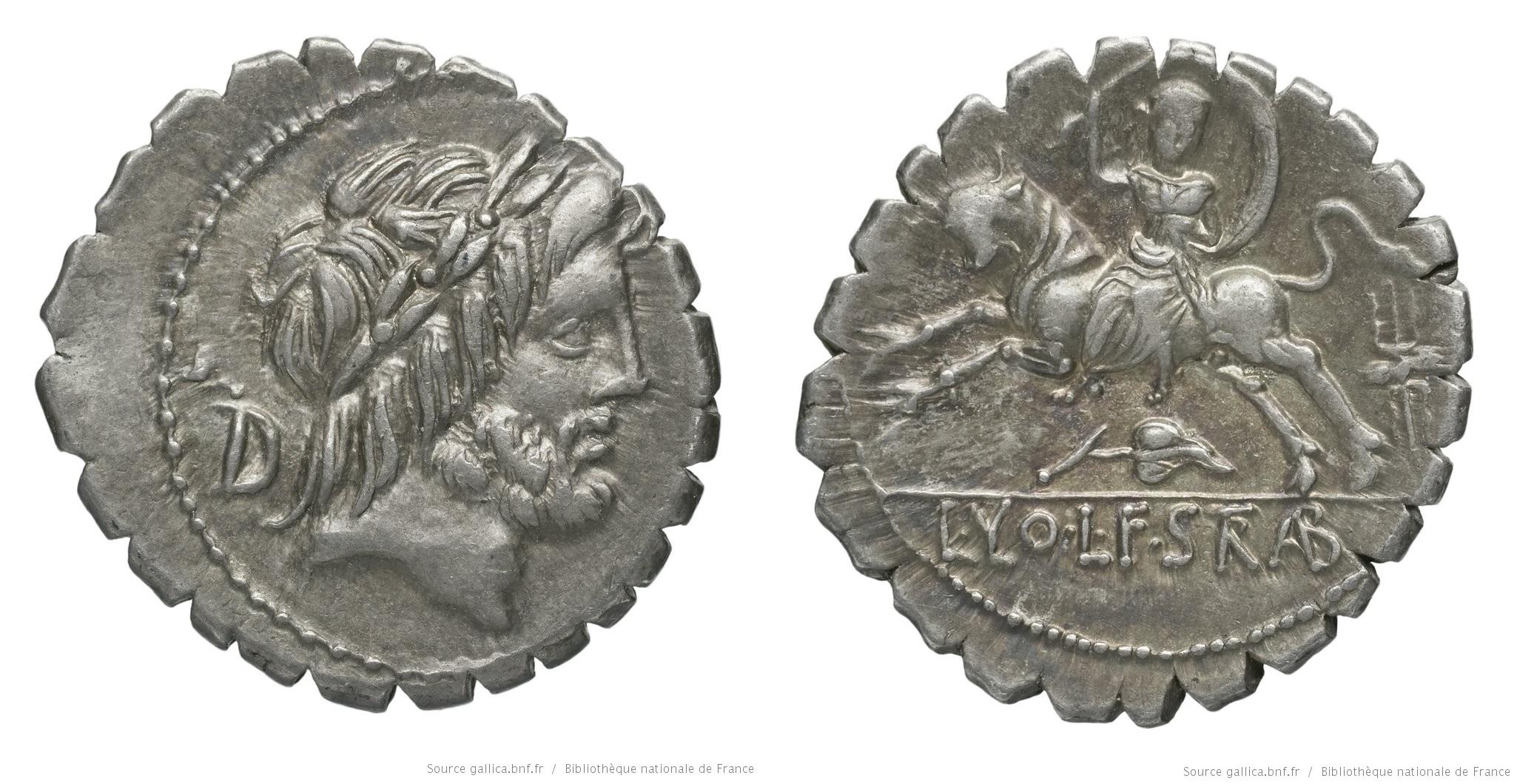 1308VO – Denier Serratus Volumnia – Lucius Volumnius Strabo