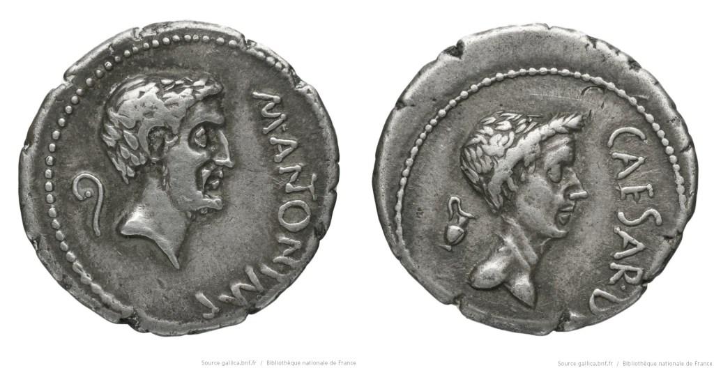 Read more about the article 1562AN – Denier Marc Antoine et César – Marcus Antonius