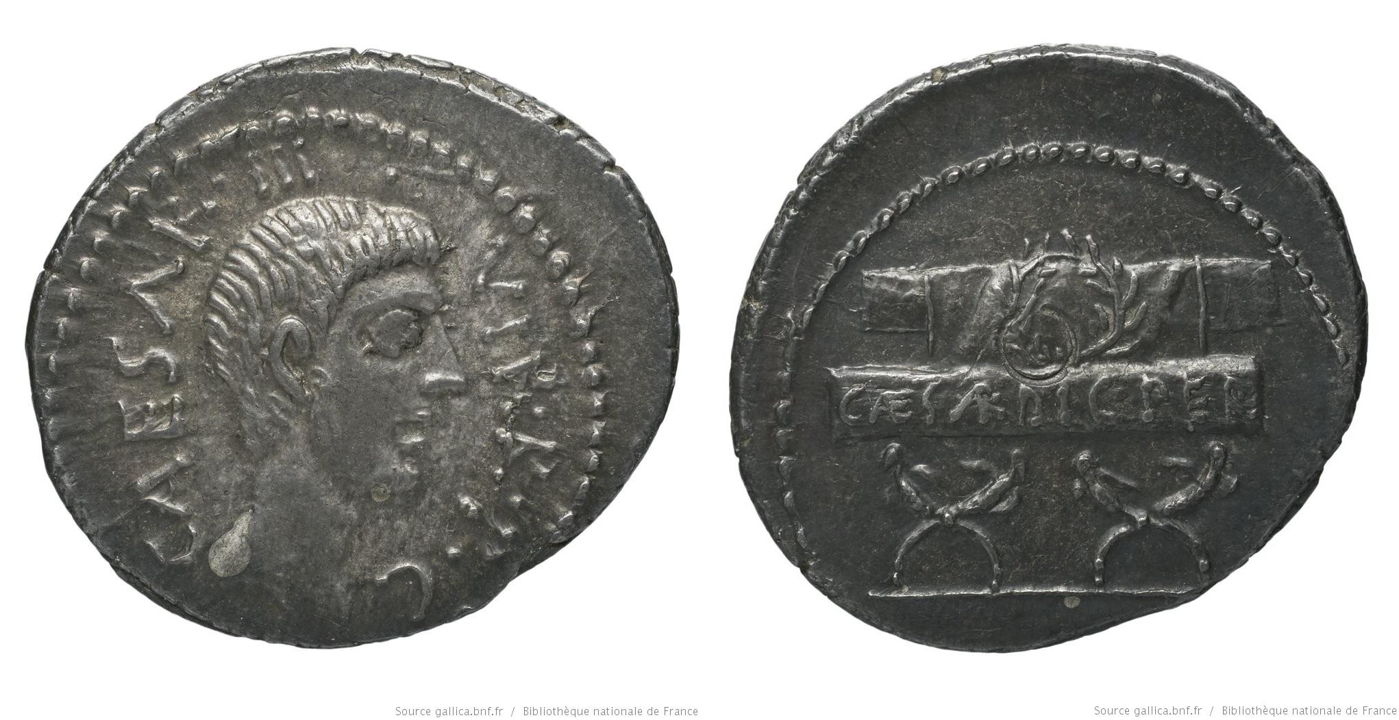 You are currently viewing 1629JU – Denier Octave – Caius Julius Cæsar Octavianus