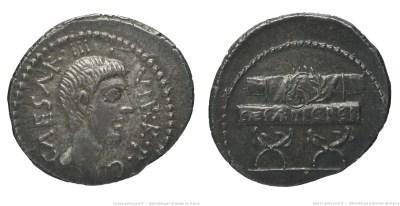 1629JU – Denier Octave – Caius Julius Cæsar Octavianus