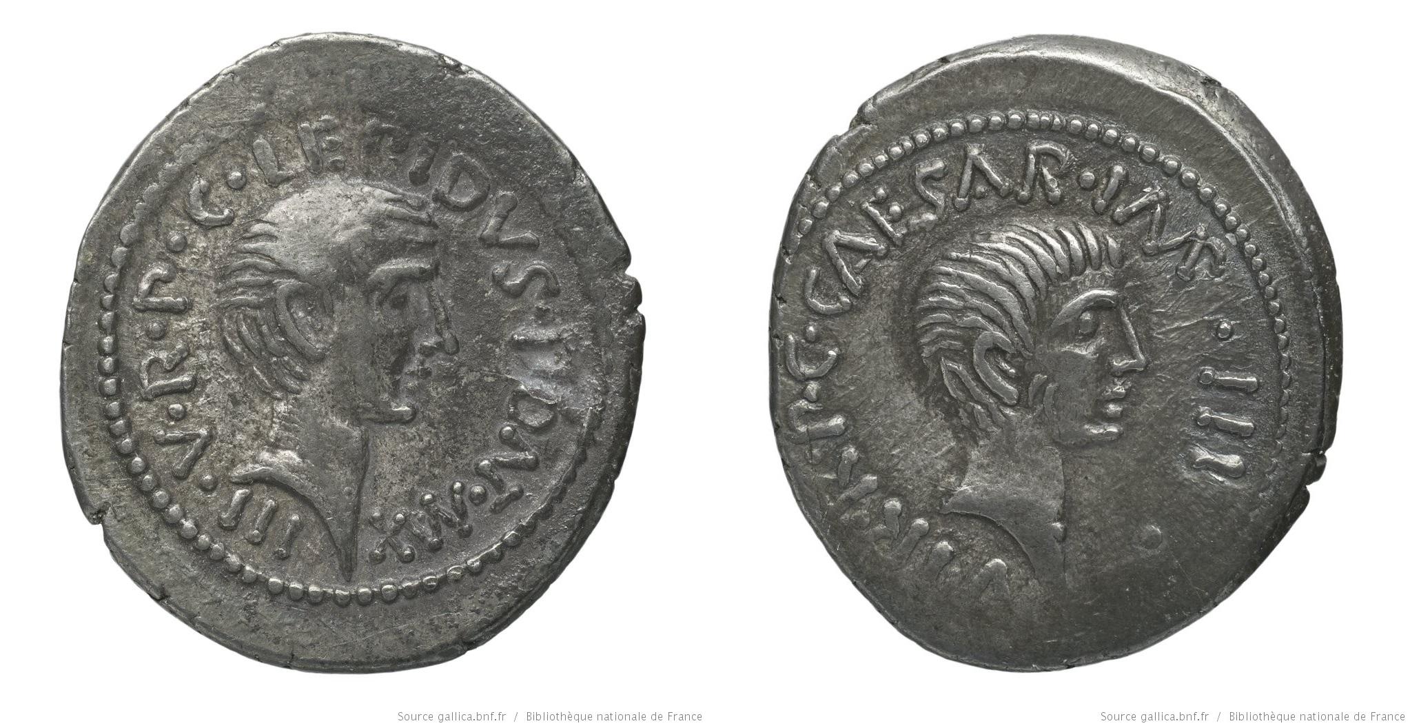 1624AE – Denier Lepide et Octave – Marcus Æmilius Lepidus