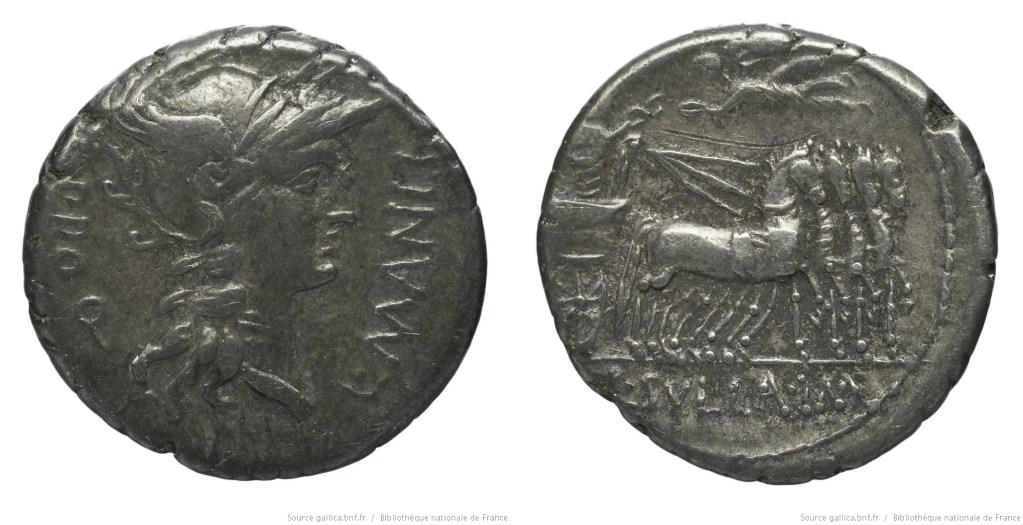 1293MA – Denier Manlia – Lucius Manlius Torquatus