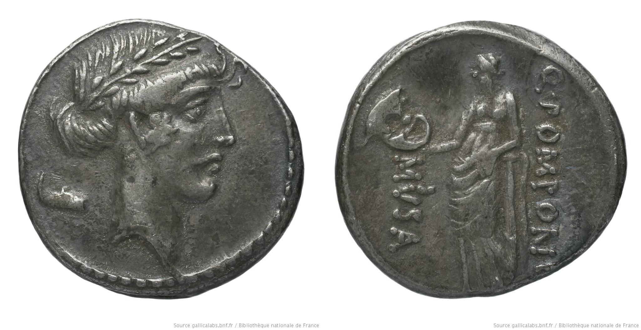 1369PO – Denier Pomponia – Quintus Pomponius Musa