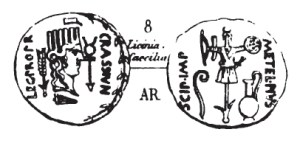 Denier Scipion et Crassus _ RRC 460/3