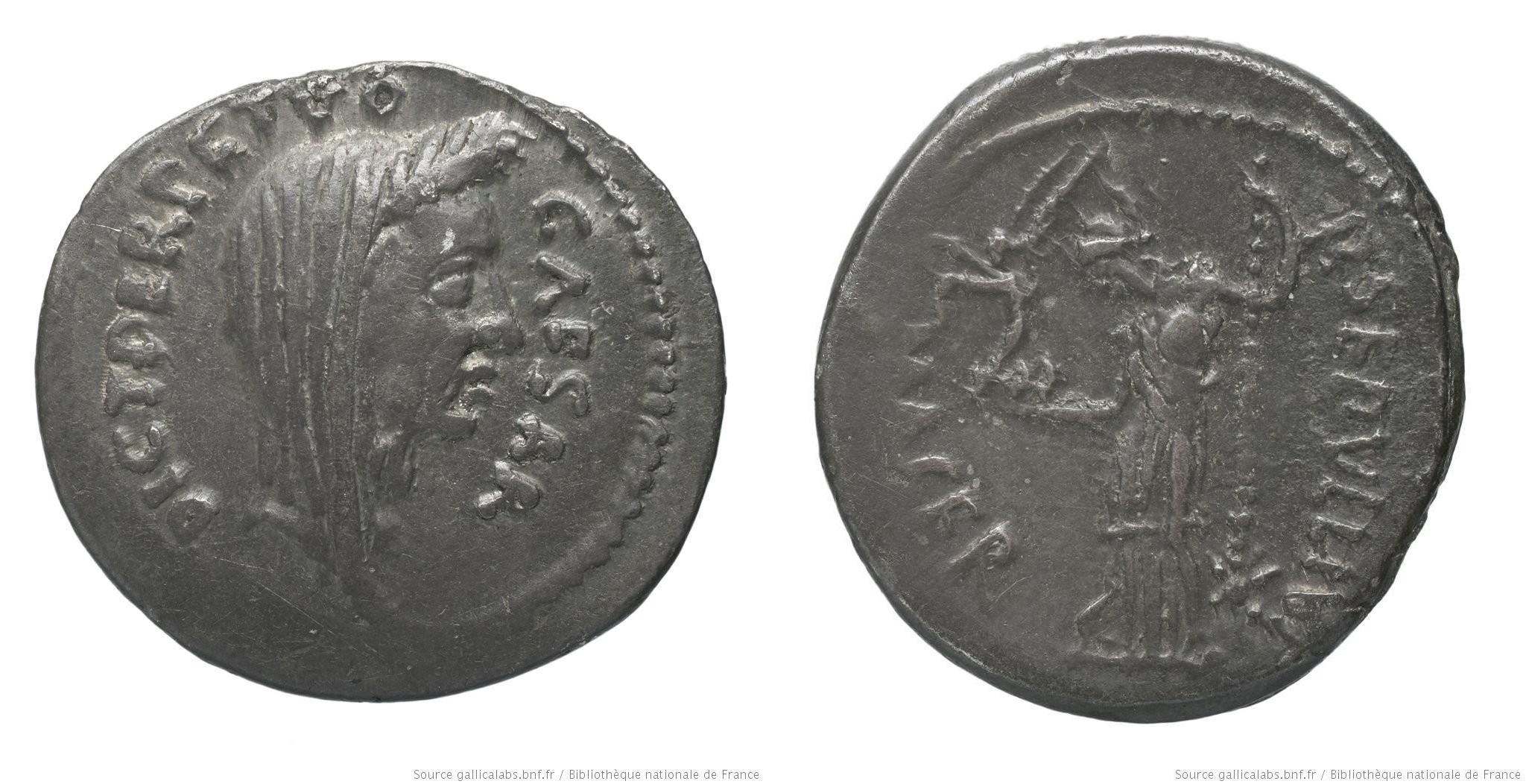 1535JU – Denier César _ Publius Sepullius Macer