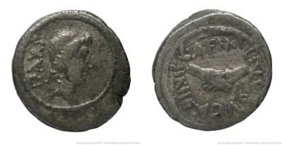 1545AE – Quinaire Aemilia – Lucius Aemilius Buca