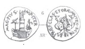 Denier Sextus Pompée _ RRC 511/4