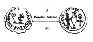 Denier Munatia Antonia _ RRC 522/4