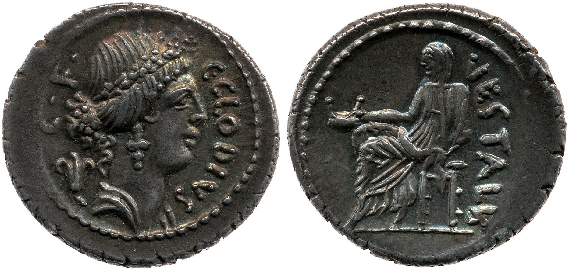 1672CL – Denier Claudia – Caius Claudius Vestalis