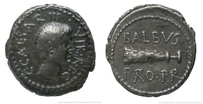 1694JU – Denier Octave – Lucius Cornelius Balbus