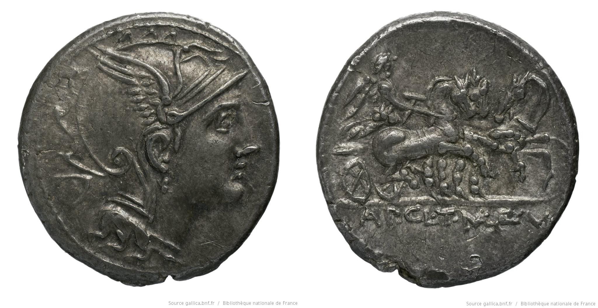 1113CL – Denier Claudia – Appius Claudius Pulcher