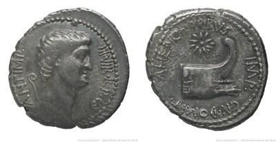 1700AN – Denier Marc Antoine – Cnaeus Domitius Ahenobarbus