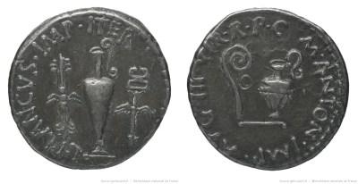 1704AN – Denier Marc Antoine – Lucius Munatius Plancus