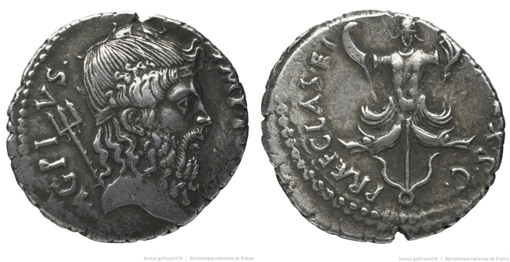 1667PO – Denier Sextus Pompée – Sextus Pompeius Magnus