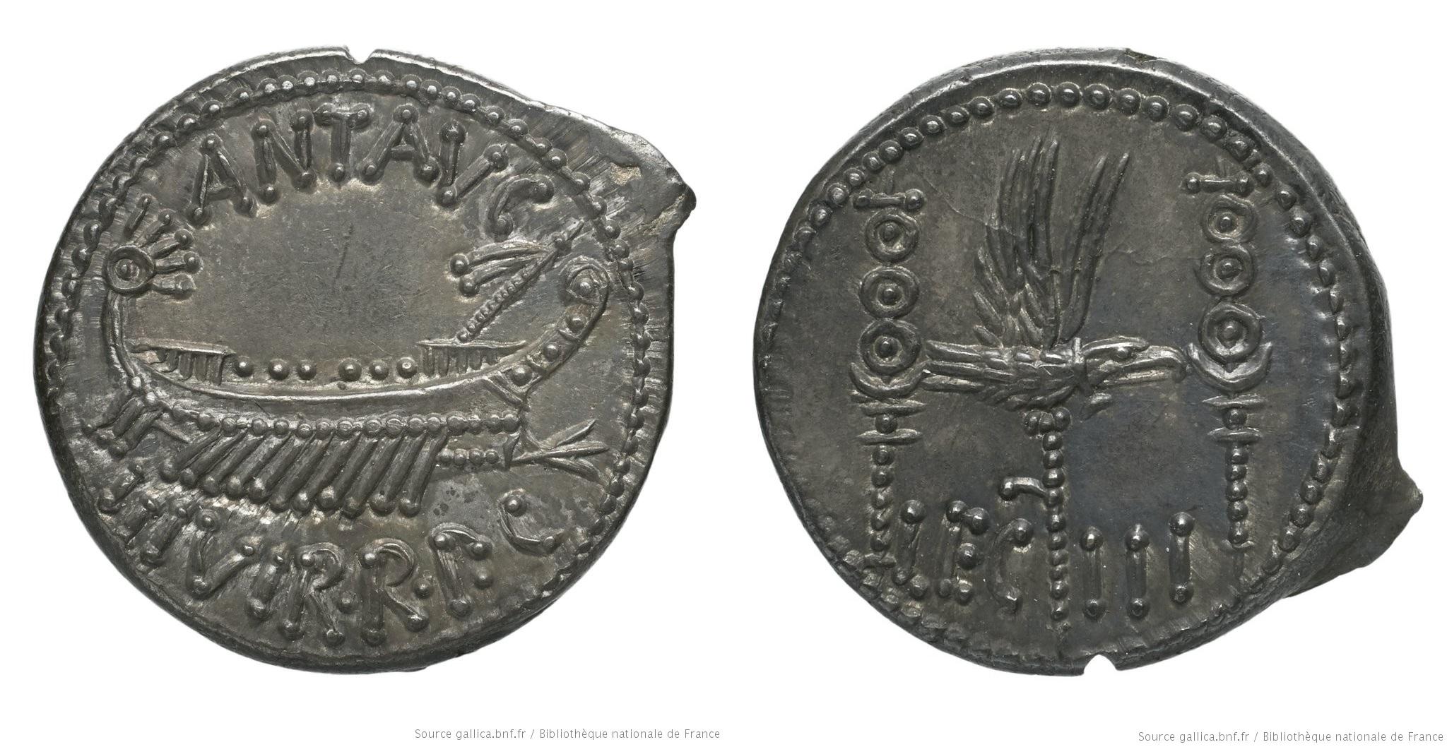 Denier 32-31 B.C.