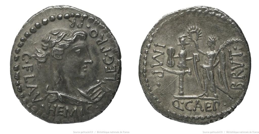 1646JU – Denier Brutus – C. Flavius Hemicillus
