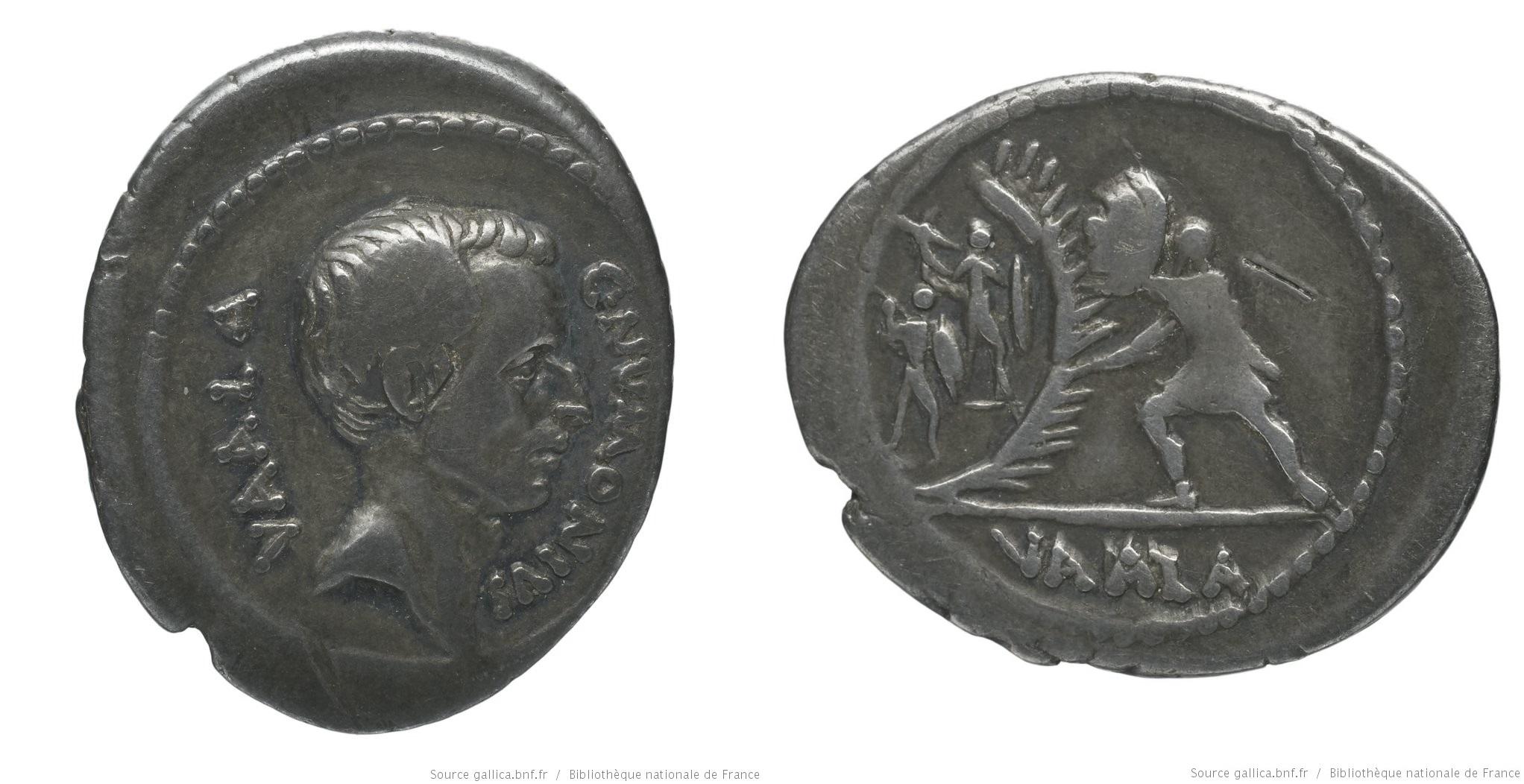 1677NU – Denier Numonia – Caius Numonius Vaala