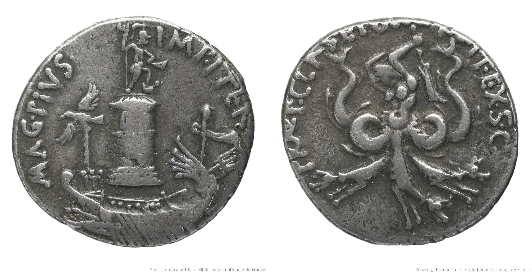 You are currently viewing 1670PO – Denier Sextus Pompée – Sextus Pompeius Magnus