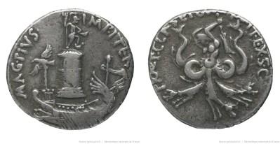 1670PO – Denier Sextus Pompée – Sextus Pompeius Magnus