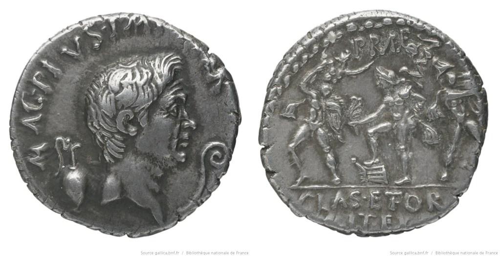 1668PO – Denier Sextus Pompée – Sextus Pompeius Magnus