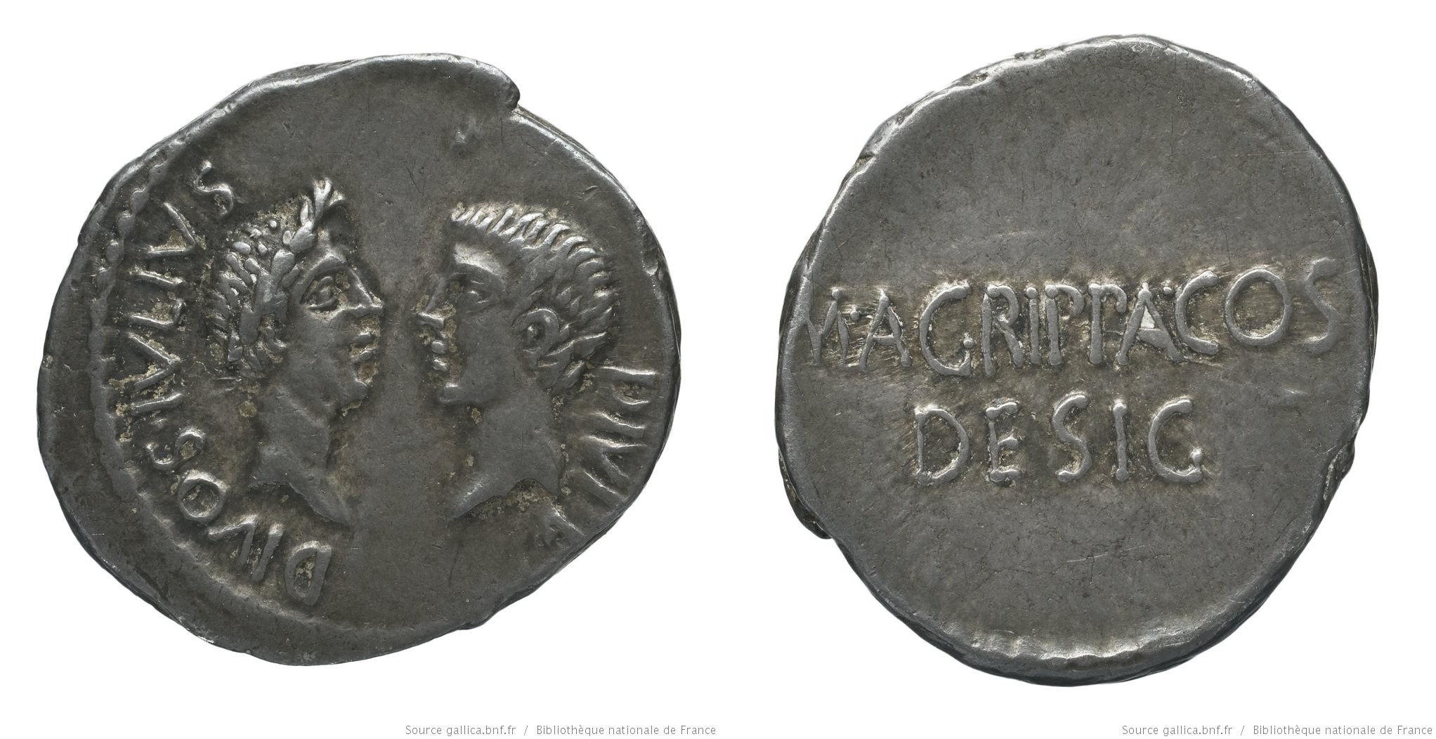 You are currently viewing 1731JU – Denier Octave et Agrippa – Marcus Vipsanius Agrippa