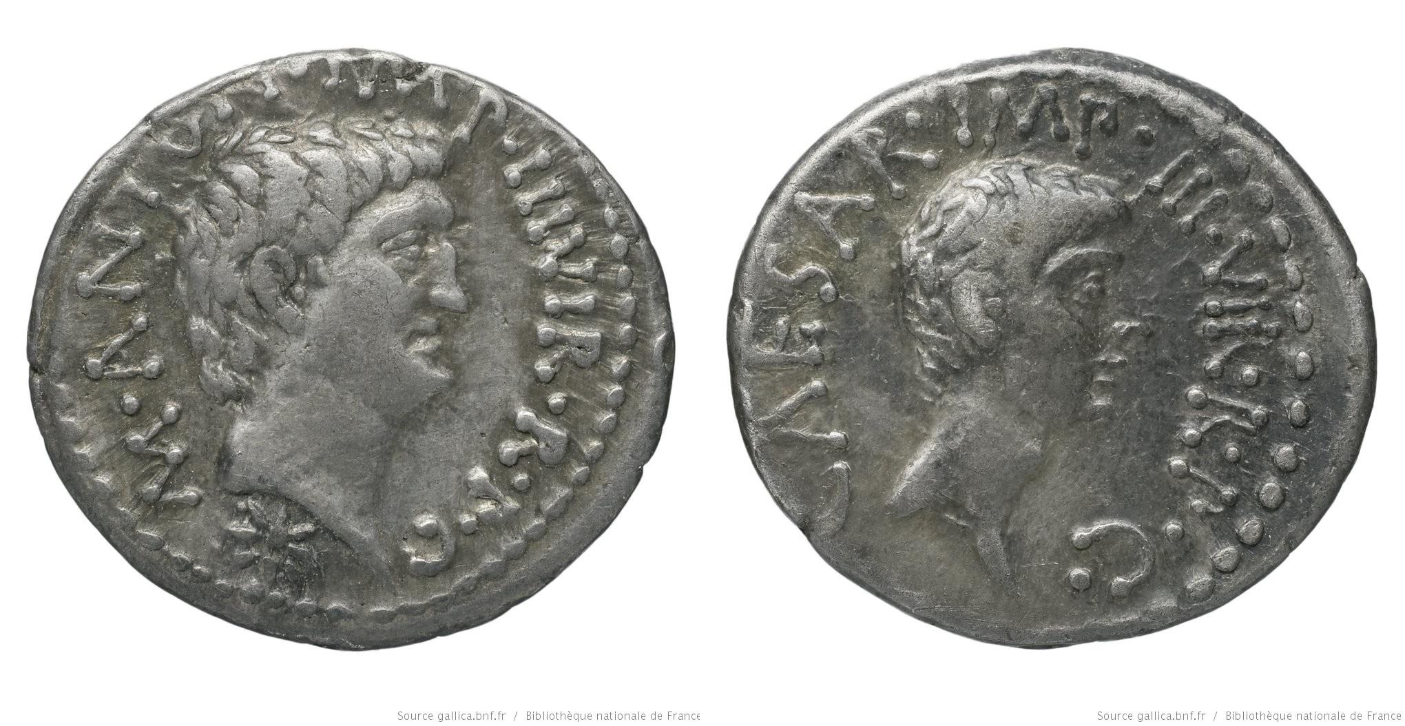 1718AN – Denier Marc Antoine et Octave – Marcus Antonius