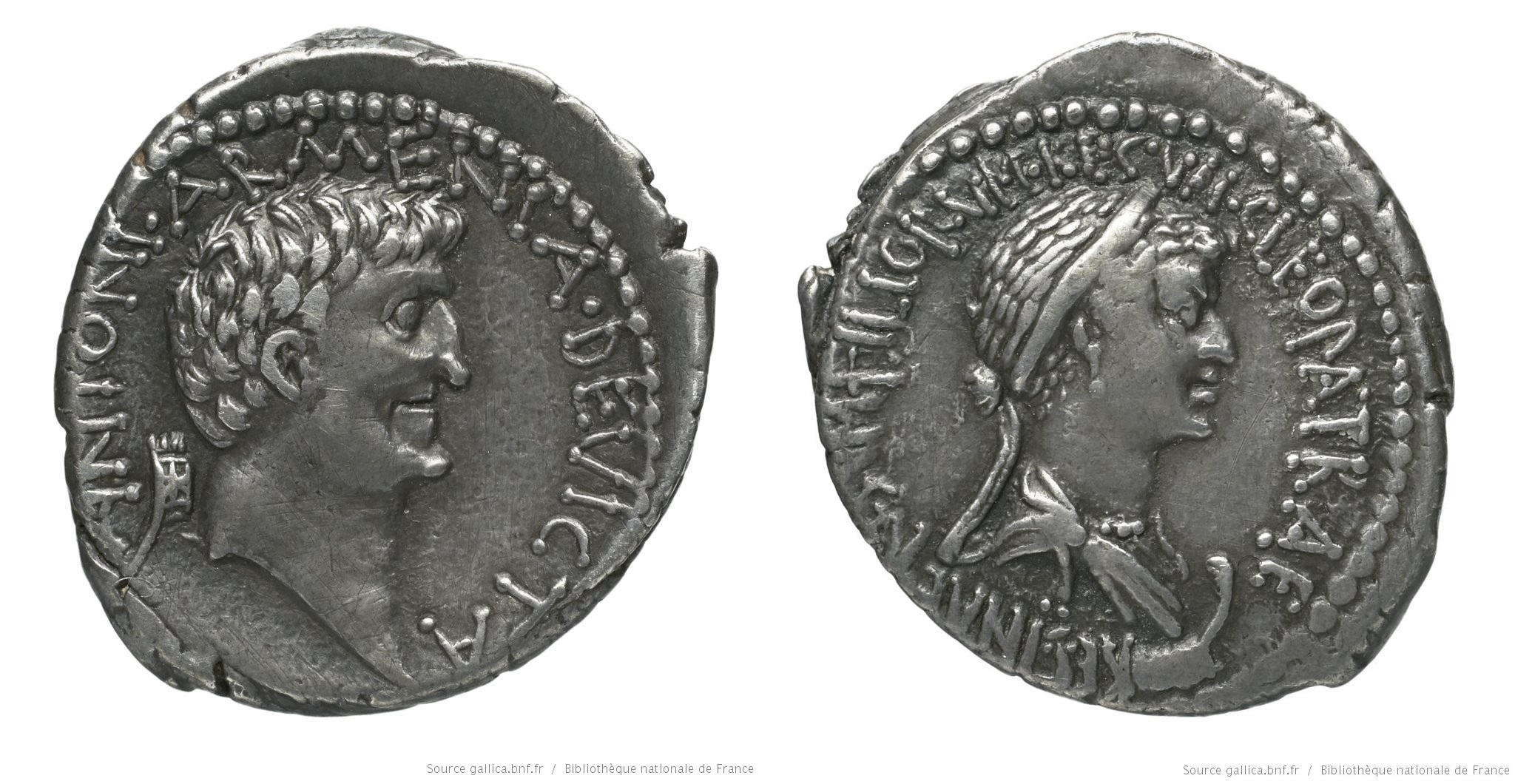 1750AN – Denier Marc Antoine –  Marcus Antonius