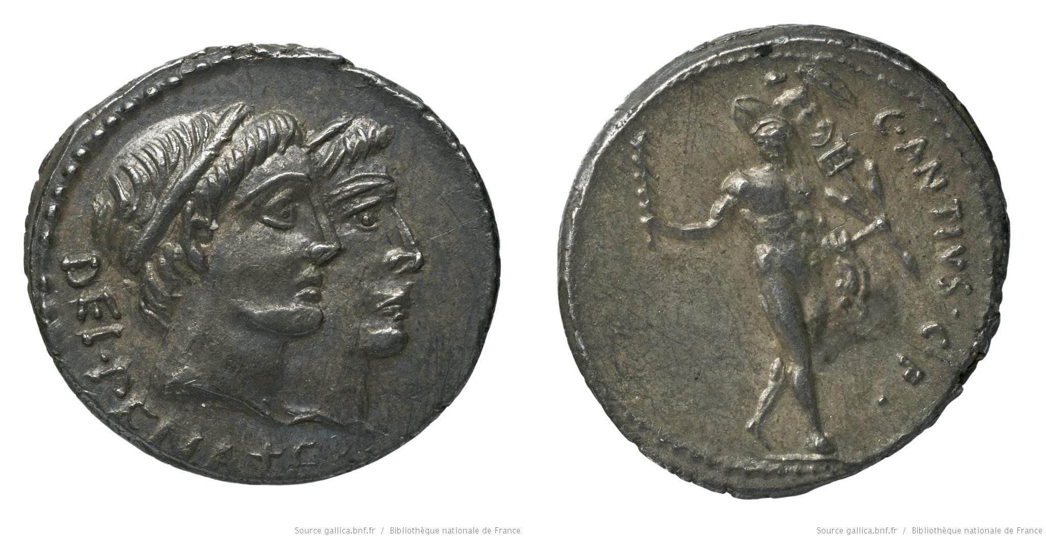 1454AN – Denier Antia – Caius Antius Restio