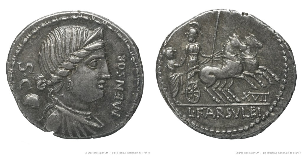 1333FA – Denier Farsuleia – Lucius Farsuleius Mensor