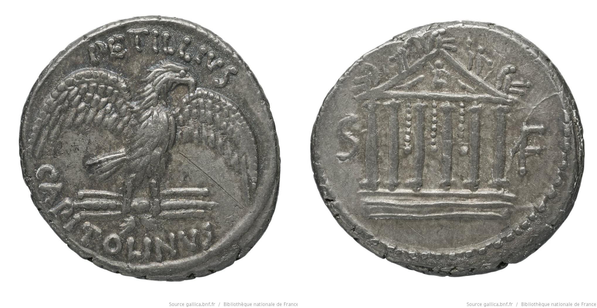 1560PE – Denier Petillia – Petillius Capitolinus