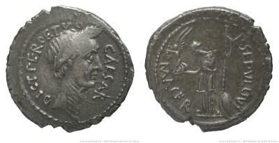1532JU – Denier César – Publius Sepullius Macer