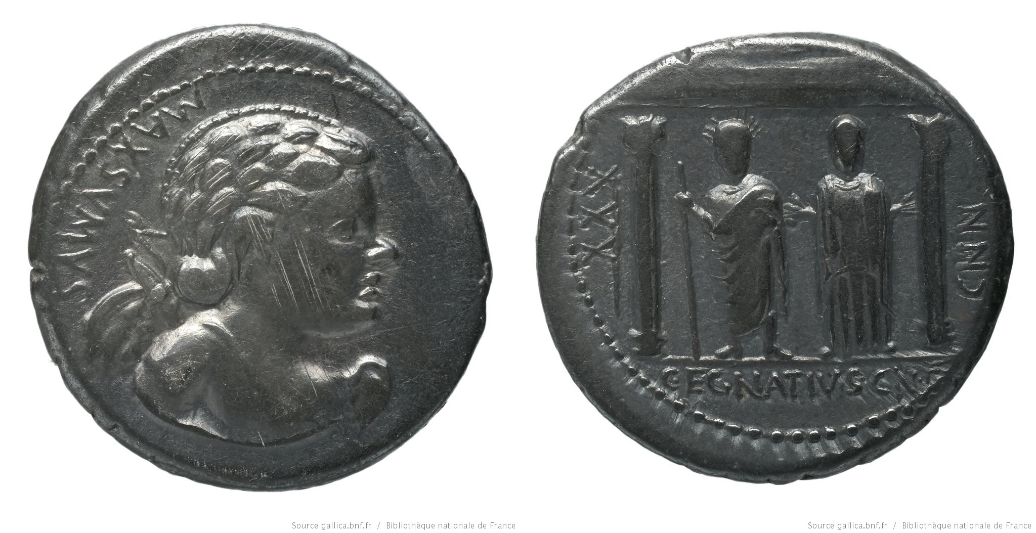 1331EG – Denier Egnatia – Caius Egnatius Maxsumus