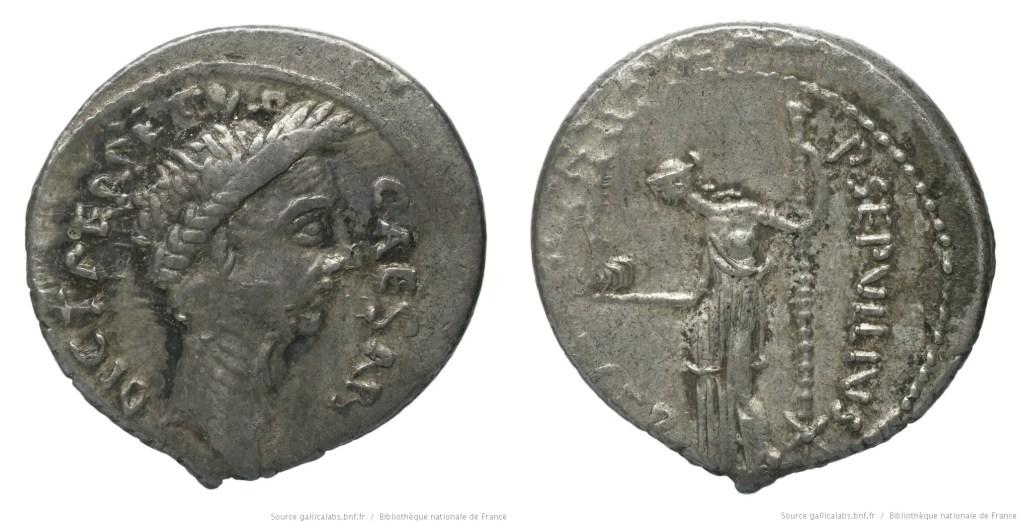 1533JU – Denier César – Publius Sepullius Macer