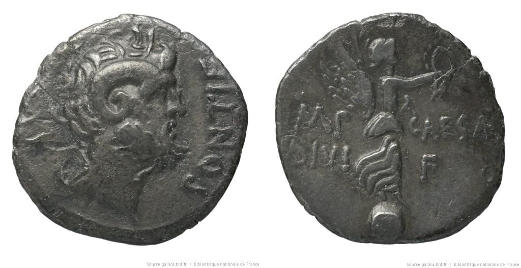 1802PI – Denier Octave – Lucius Pinarius Scarpus