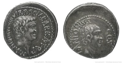1687AN – Denier Marc Antoine et Lucius Antoine – Marcus Antonius