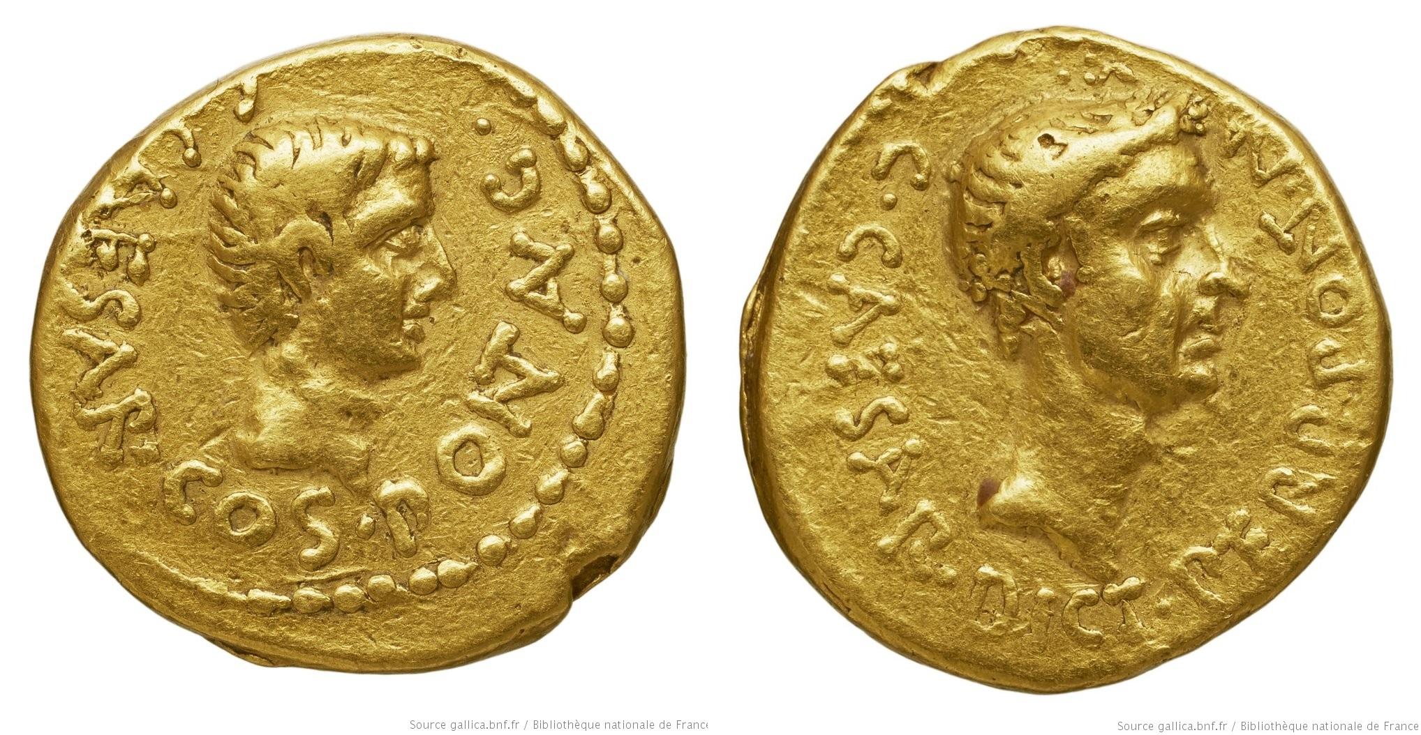 You are currently viewing 1571JU – Aureus Octave – Caius Julius Cæsar Octavianus