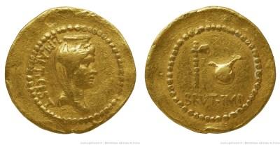 1657JU – Aureus Brutus _ L. Plaetorius Cestianus