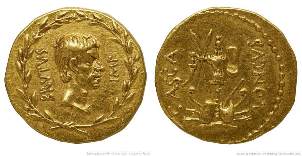 1655JU – Aureus Brutus – Publius Servilius Casca