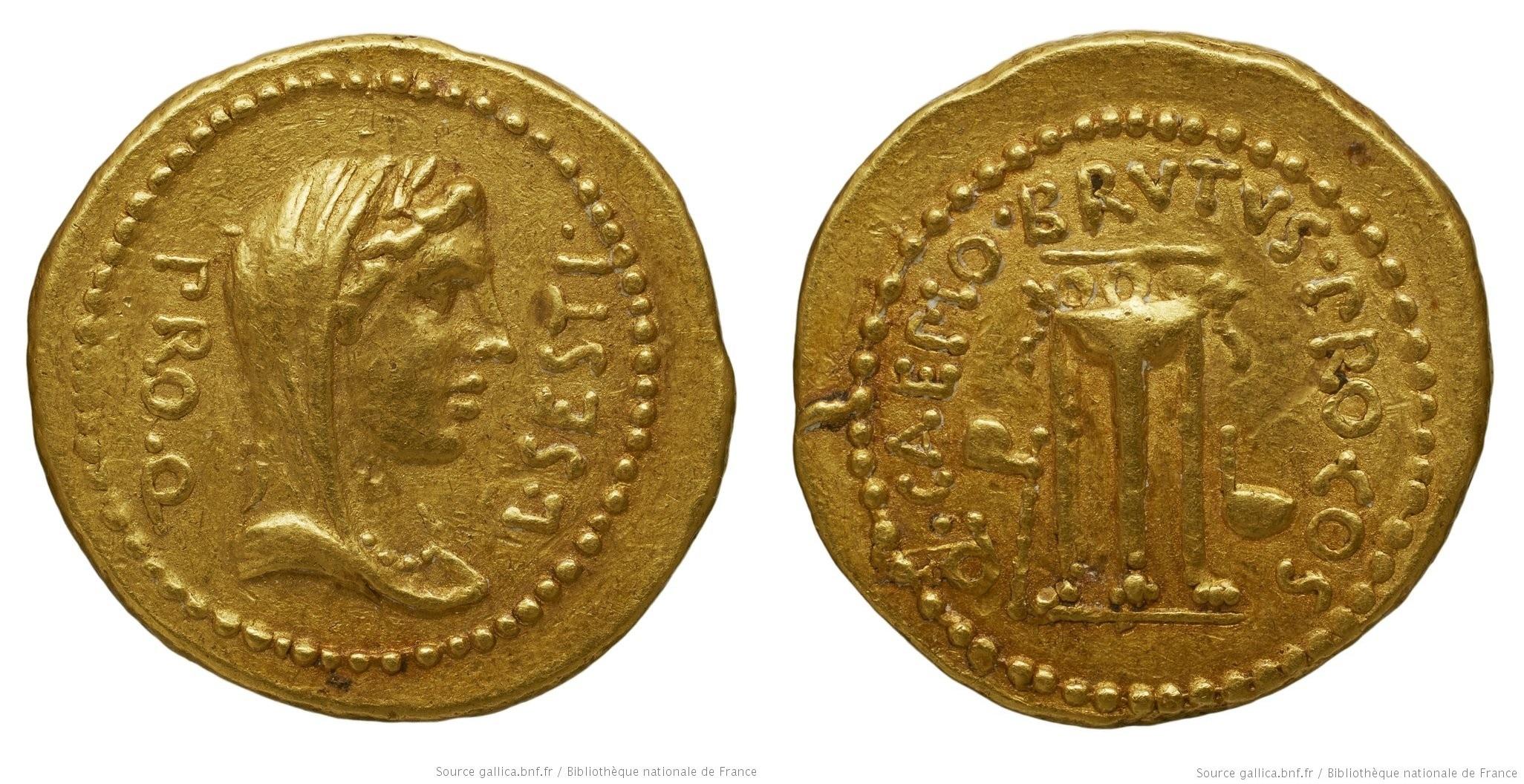 You are currently viewing 1641JU – Aureus Brutus – Lucius Sestius Quirinalis