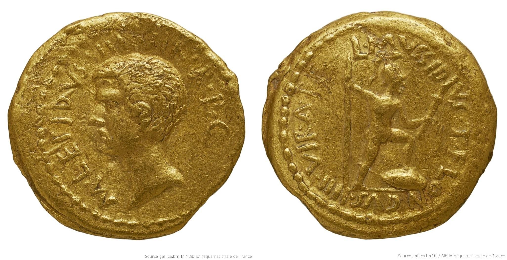 1585AE – Aureus Lépide – Lucius Mussidius Longus