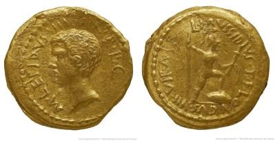 Read more about the article 1585AE – Aureus Lépide – Lucius Mussidius Longus