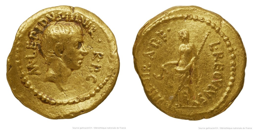 1579AE – Aureus Lépide – Lucius Livineius Regulus