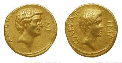 Read more about the article 1720AN – Aureus Marc Antoine et Octave – Marcus Antonius