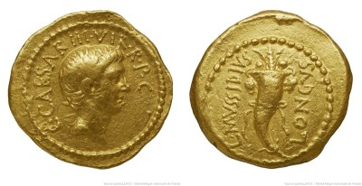 1593JU – Aureus Octave – Lucius Mussidius Longus